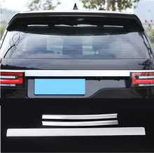 Car ABS Chrome Rear Tail Light Lamp Strips+ Lid Strips Trim For Land Rover Discovery 5 2017 Accessories 3Pcs