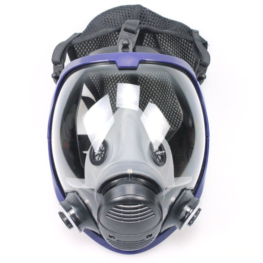 Chemical mask Gas Mask acid dust Respirator Paint Pesticide Spray Silicone filter Lightweight Full Face 11 in 1 suit 3m 6200 half face mask with 2091 industry paint spray work respirator mask anti dust respirator fliters