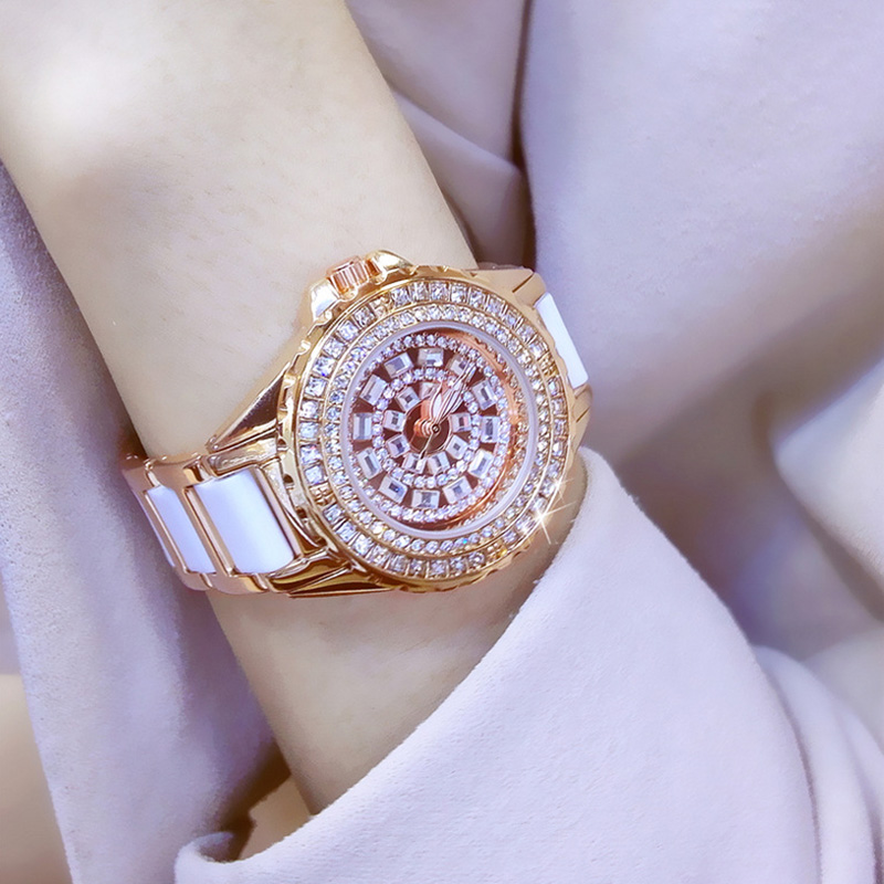 Women Watches Luxury 2017 Diamond Famous Brand Elegant Dress Watches Ladies Wristwatch Relogios Femininos Saat ZDJ