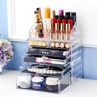 Cosmetic Q tip Holder Big size transparent box Fashion cosmetics drawer Fashion Acrylic Cotton Swab Organizer Box L49