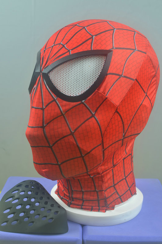 Spider-man Breathing Mouth Faceshell Mask Spiderman Soft Rubber Mask Props Red