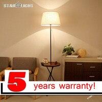 NEW simple modern stand light bedroom floor lamp The living room Iron bracket floor lamp whit wood desk