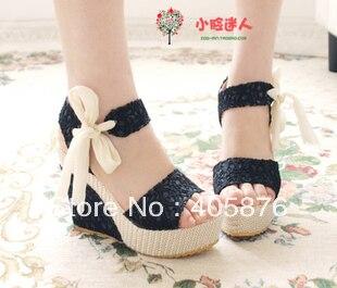 summer open toe platform wedges female sandals
