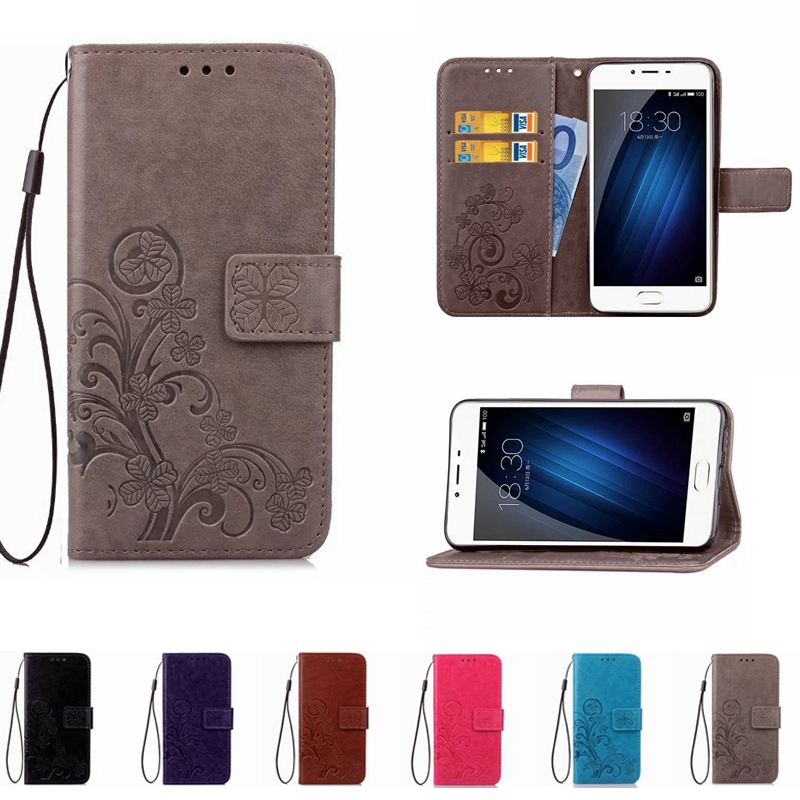 Fashion Leather Printing Phone Case Wallet Cover For Meizu M3 Mini Note 3 M3S M5 Note Flip Stand Book Capa Soft TPU Back Cover