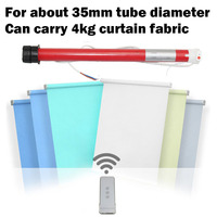 Automatic Electric Roller Blinds Shutters Curtain Motor RF433 AC 110 to 240v work with Remote Broadlink