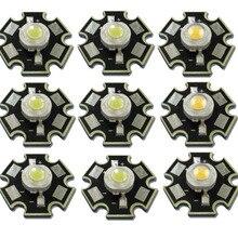 30 шт./лот Высокая мощность 1 Вт 3 Вт Холодный/теплый белый 3000 К 4000 к 6500 к чип для светодиодной лампы кристалл диоды светильник с 20 мм AL Star база
