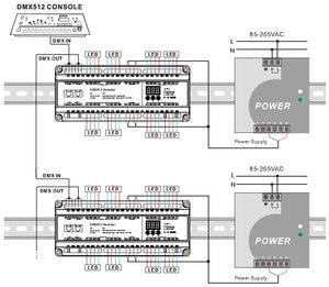 Image 5 - New DMX512 Decoder DC12V 24V 5A*24CH Max 120A 2880W output RGB/RGBW Strip Decoder RJ45 Connect LED screen 24 Channel DMX Decoder