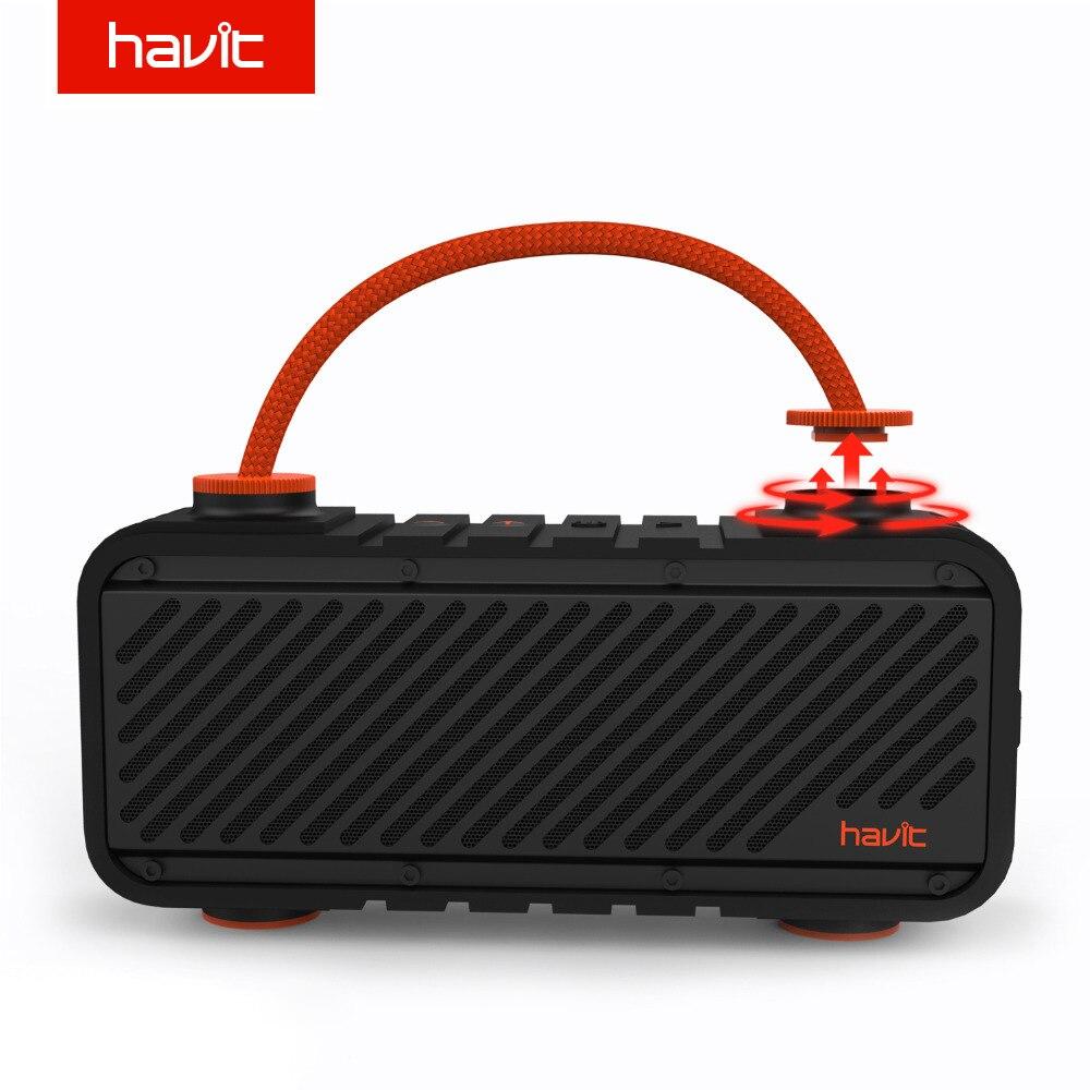HAVIT Outdoor Bluetooth Speaker Waterproof Shockproof Loudspeaker Powerful Bass Portable Speaker with 20W 4000mAh Power Bank