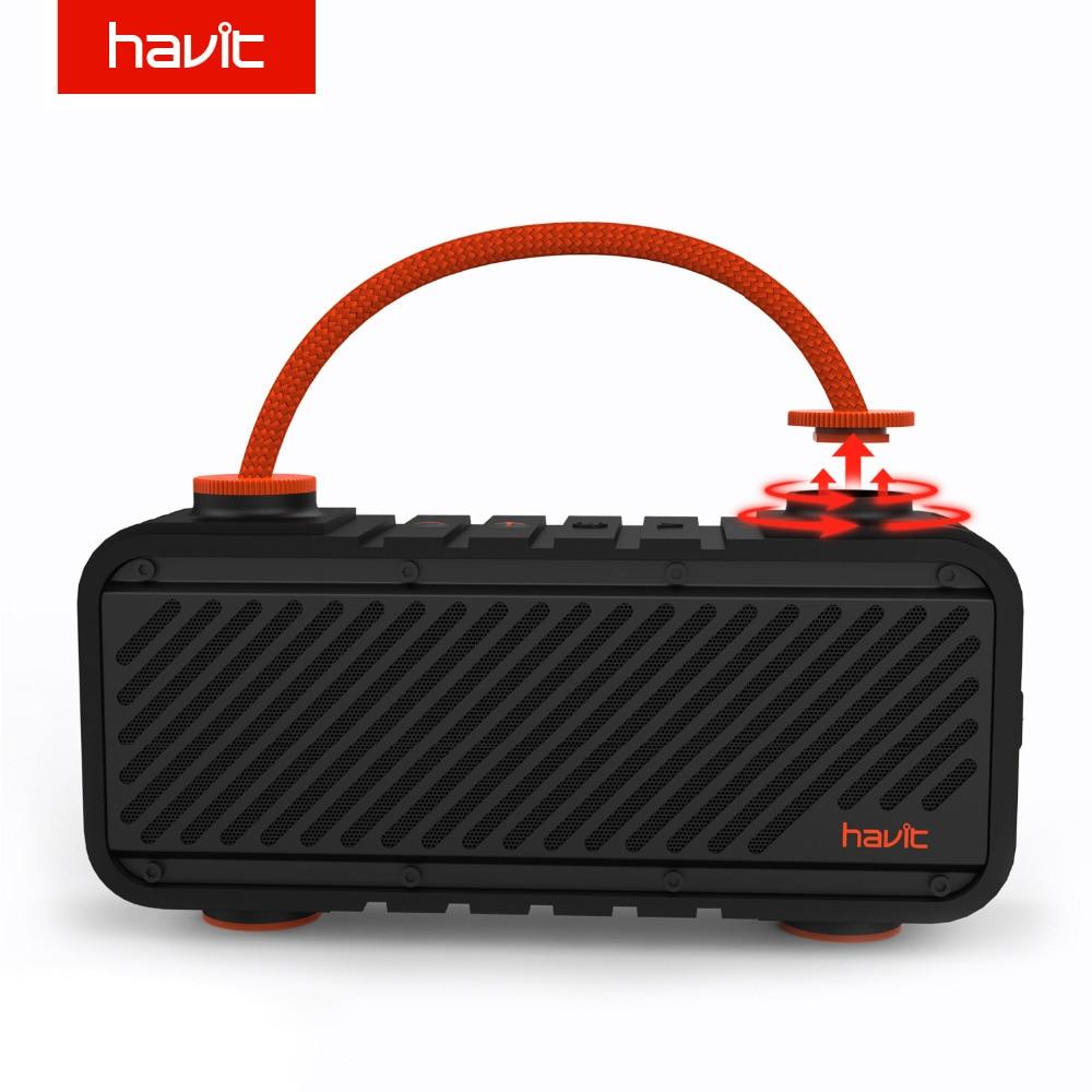 HAVIT Outdoor Bluetooth Speaker Waterproof Shockproof Loudspeaker Powerful Bass Portable Speaker with 5000mAh Power Bank M22 стоимость