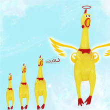 30cm 17cm Screaming Chicken Squeeze Sound Toy Pets Toy Product Dog Toys Shrilling Decompression Tool gadgetsFunny