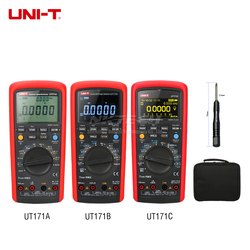 UNI-T przemysłowe true rms multimetr cyfrowy UT171A UT171B UT171C przechowywania danych AC DC Volt Amp USB/transmisji Bluetooth 100kHz LoZ