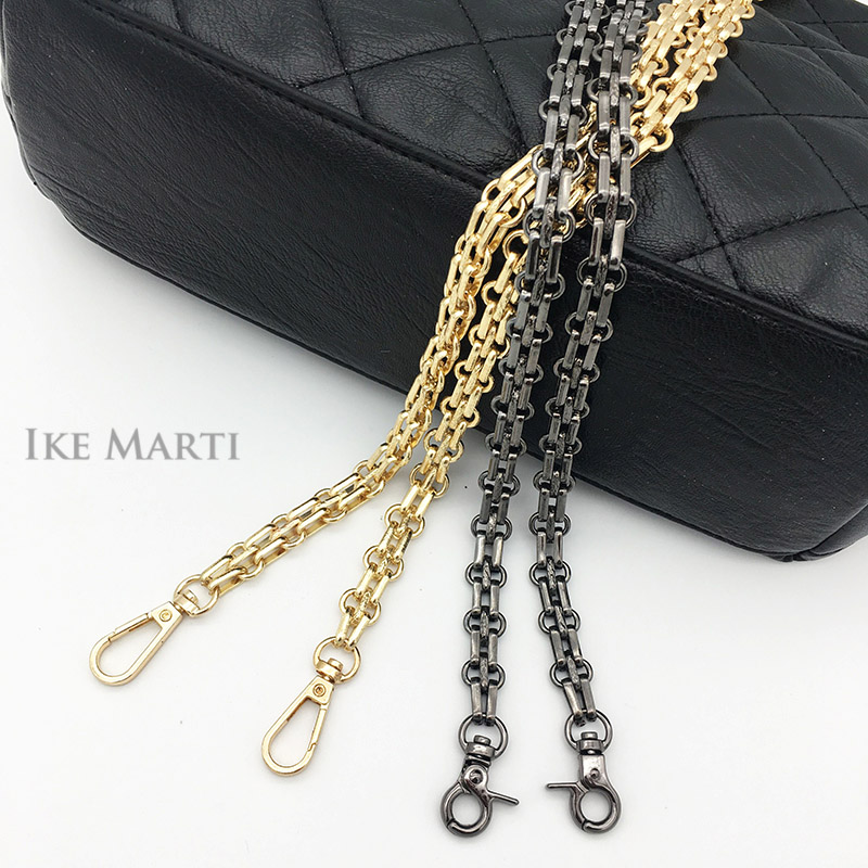 Replacement Chain Gold For Shoulder Crossbody Bags For Women Hardware Bag Parts Accessories Black Chains Long Handbag Strap Belt