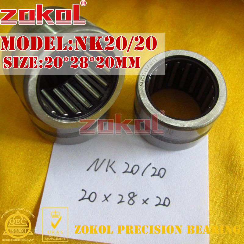 ZOKOL NK19/16 NK19/20 NK20/16 NK20/20 NK21/16 NK22/16 NK25/16 Needle Roller Bearings Without Inner Ring    20*28*20mm 22*30*16mm