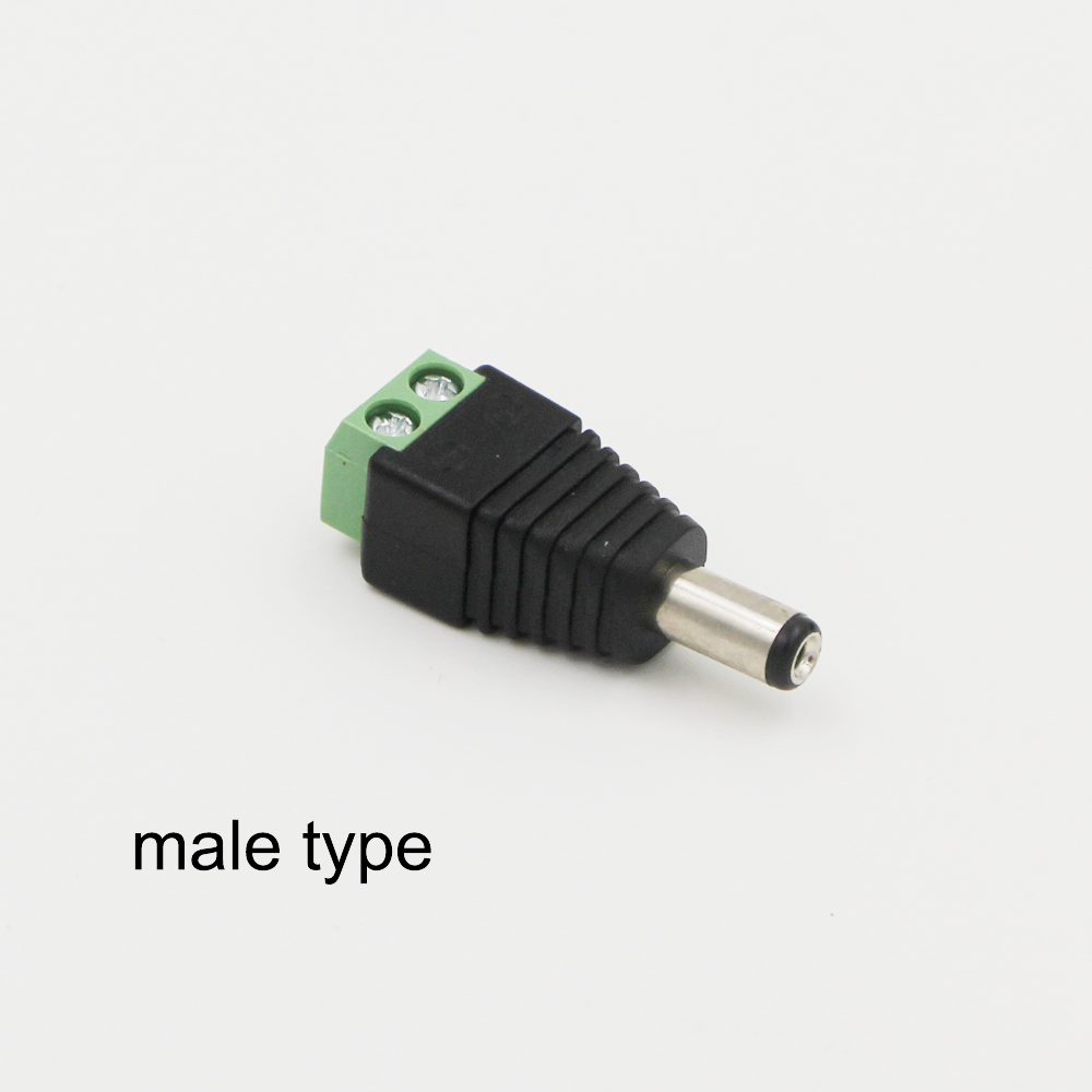 Connectors 1pair Female Male Dc Power Jack Connector Crimp Terminal Blocks Plug Adapter For 2 Pin 5050 3528 Single Color Led Strip Wire Lights & Lighting