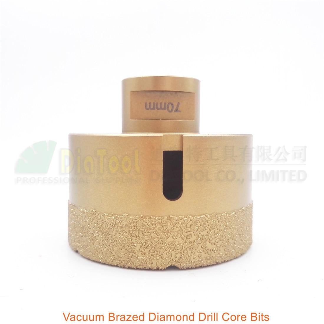 DIATOOL Diameter 70mm Vacuum Brazed Diamond Drilling Core Bits With 15MM Diamond Height Granite Marble Ceramic Hole Saw diatool 2pcs 230mm vacuum brazed diamond