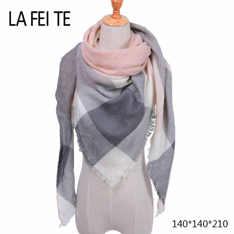 Autumn Winter Cashmere Scarf Women Men Plaid High Density Triangle Foulard  Femme Hijab Warm Blanket Shawl ac8de96a249
