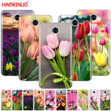 Tulips flower Spring field Red pink yellow purple phone Cover Case for huawei honor 3C 4X 4C 5C 5X 6 7 Y3 Y6 Y5 2 II Y560 2017(China)