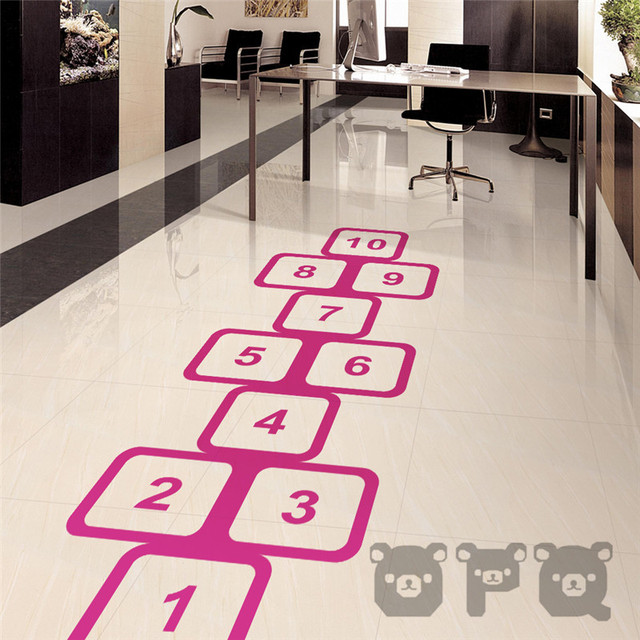 Creative Removable Vinyl Floor Stickers Numbers Sticker DIY For ...