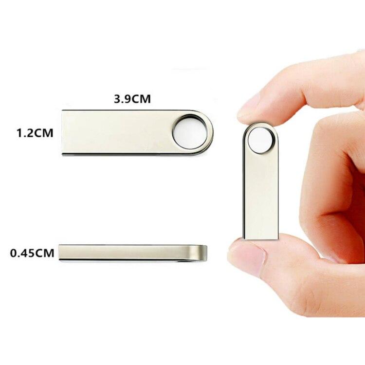 Usb Flash Drive 2.0 32GB Metal Black Pen Drive 16GB 64GB 128GB Waterproof Pendrive 8G Usb Stick Keychain Flash Memory Stick Gift 2