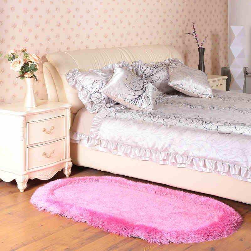 Oval Elastic Shiner Texture Bathroom Carpet Bath Mat Pads Anti Slip Floor Carpet Bath Rug Bedroom Mat Sofa Pads tapete banheiro Bath Mats     - title=