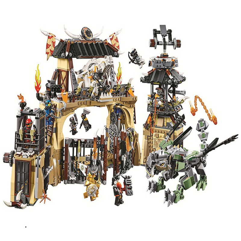 10940 Ninjagoes Series Dragon Pit Dragon Master/Jay/Zane Building Block 1714pcs Bricks Toys Compatible Legoings