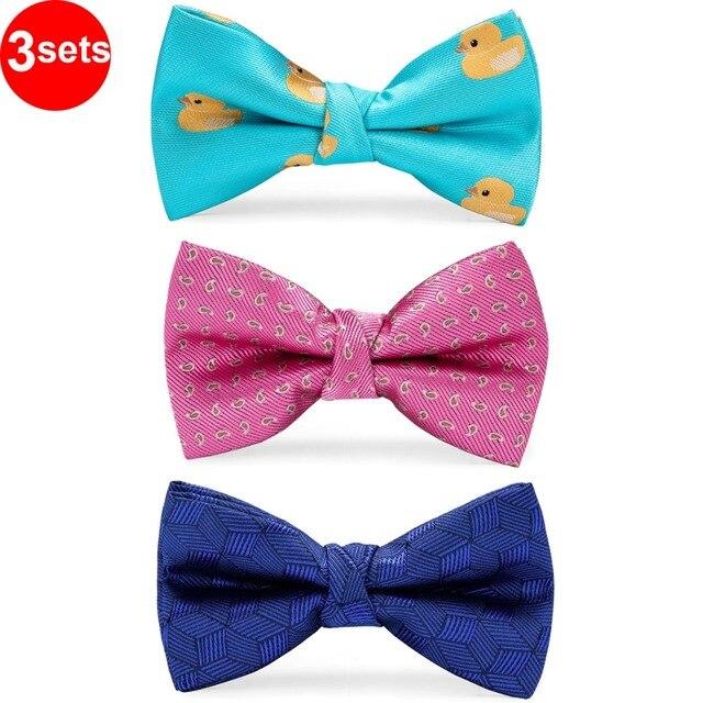 DiBanGu/Лидер продаж, 3 предмета, галстук бабочка шелковые галстуки бабочки, модные галстуки бабочки для маленьких детей, галстук бабочка, синий, красный, зеленый, галстук бабочка