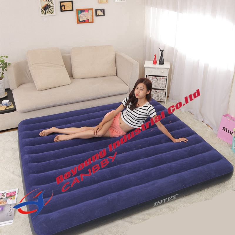 intex 68755 classic downy bed king size inflatable air bed ...