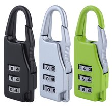 1pcs Security 3 Combination Travel Suitcase Luggage Bag Code Lock Zipper Padlock Jewelry Boxes Tool Chests zinc alloy New