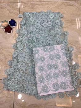 Pretty 3D flower tulle lace cloth fashion party French net lace fabric for sewing dress PDN157(5yards/lot) many color