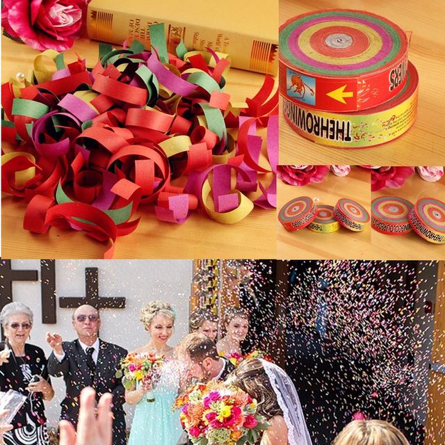 new 1 roll colorful hand throwing popper frisbee paper confetti