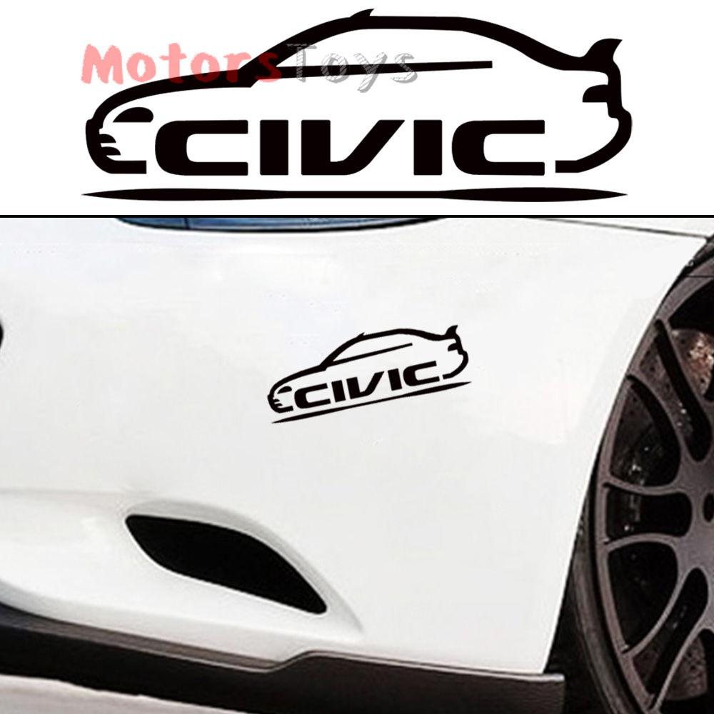 Car sticker design for white car - 1pc Jdm Style Car Model Fast Racing Drift Hf Vinyl Car Sticker Decal For Civic