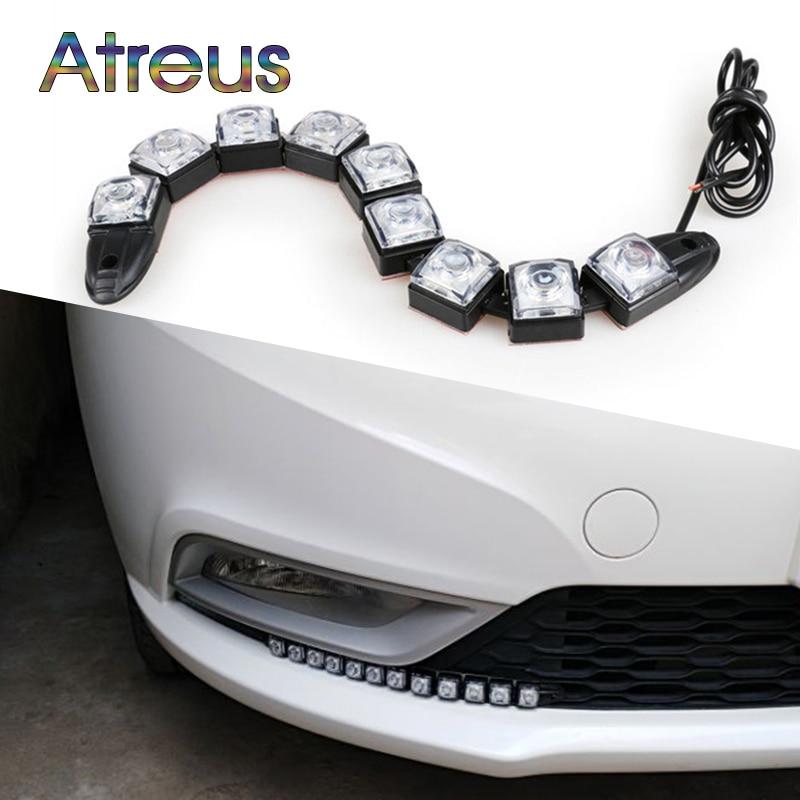 Atreus Car LED Day Lights 12V For Ford focus 2 3 fiesta Lada Nissan juke Citroen c4 c5 c3 accessories 1Pair DRL fog lamp Bulb td03 49131 05210 0375k7 turbo turbocharger for ford c max fiesta 6 hhja 1 6l for citroen jumper for peugeot boxer 3 4hv psa 2 2l