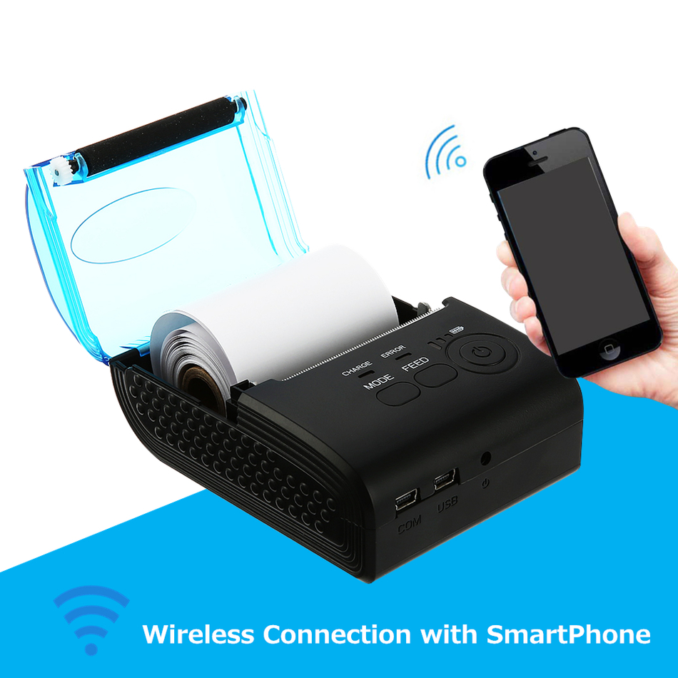 ZJ - 5805 pos terminal 58mm Bluetooth 4.0 Android 4.0 POS Receipt Thermal Printer Bill Machine for Supermarket EU  US  UK PLUG