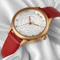 VILAM Moda Mulher Casual Relógios 2016 Marca de Luxo Strass Relógio de Quartzo relogio feminino Montre Femme Couro À Prova D' Água
