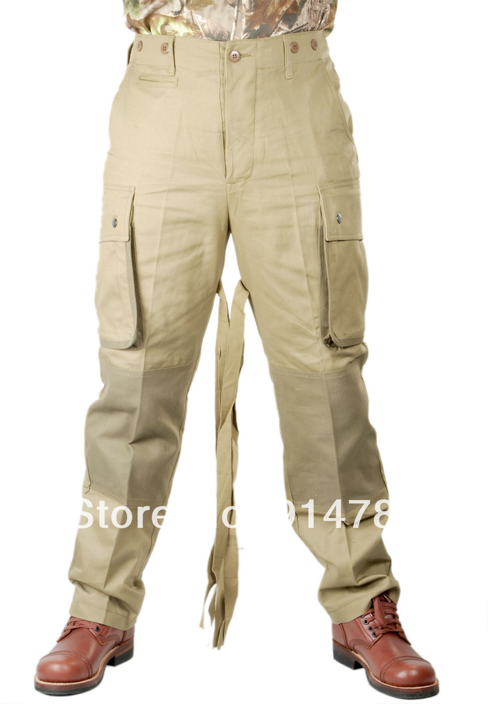 WWII US M42 AIRBORNE JUMPSUIT TROUSERS IN SIZES-33999 airborne pollen allergy