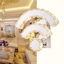 Creative Wall Crystal Lamp Modern 14W LED Lights for Hotel Bedroom Hallway Stairs Novelty WIFI Shape Indoor Lighting Sconces