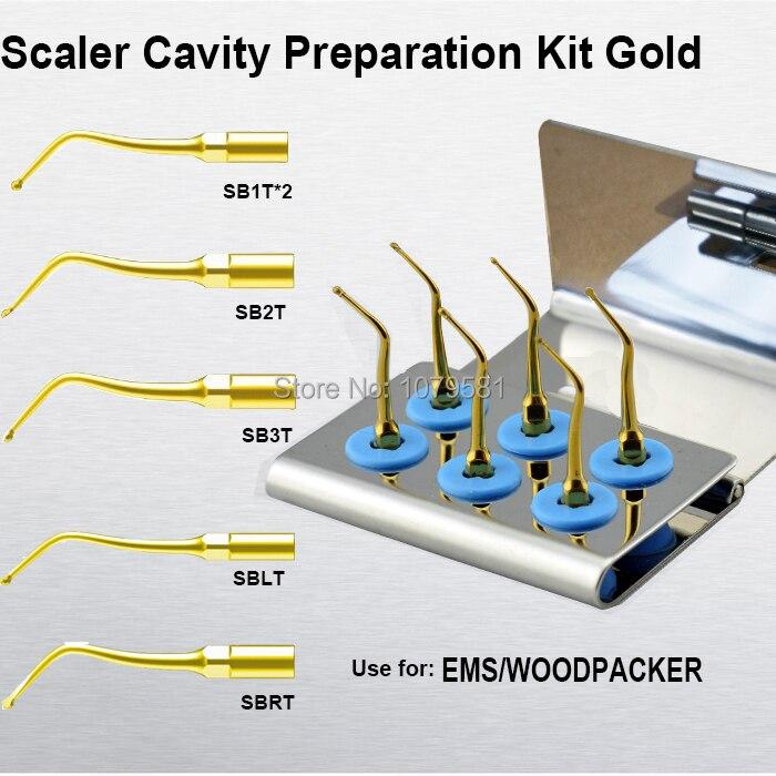 1 Set ECKG Supragingival scaling Perio scaling tip teeth preparation by childrens dentist Endo tip multifunction dental product