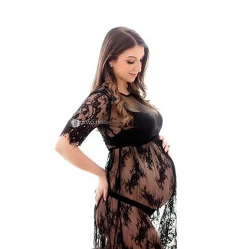 Le Paar Mutterschaft Kleider Sommer Mutterschaft Fotografie Kleid Spitze Schwangere Frauen Kleider Phantasie Mutterschaft Foto Schießen