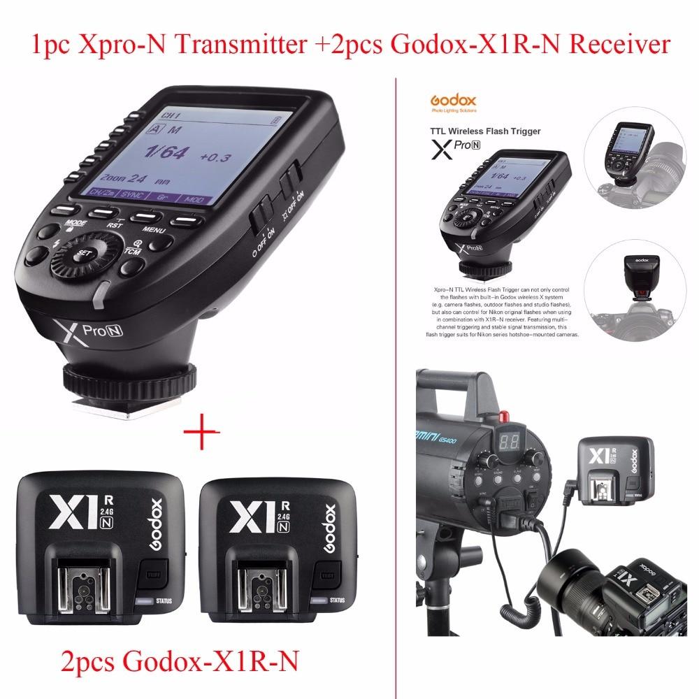 US $159 0 |Godox Xpro N TTL 2 4G Wireless 1/8000s HSS Flash Trigger for  Nikon DSLR, Godox Xpro N Transmitter + 2pcs Godox X1R N Receiver-in Shutter