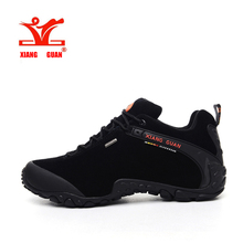 XIANGGUAN Man Hiking Shoes Waterproof Outdoor Climbing Men Trainers Trekking Sneaker Breathable 40-48 Plus Size US 12 13 14 15