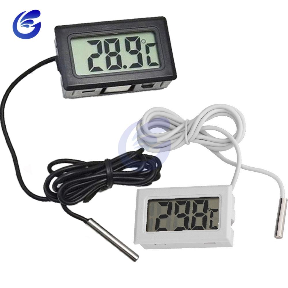 HTB194KIaovrK1RjSspcq6zzSXXay Mini Digital LCD Probe Fridge Freezer Thermometer Sensor Thermometer Thermograph For Aquarium Refrigerator Kit Chen Bar Use 1M