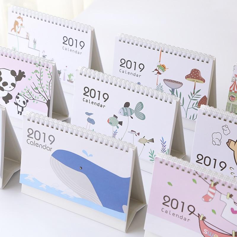 Kalender, Planer Und Karten WunderschöNen 2019 Jahr Schöne Tier Panda Whale Kaninchen Desktop Kalender Diy Tisch Kalender Täglichen Zeitplan Planer 2018,09 ~ 2019,12 Kalender