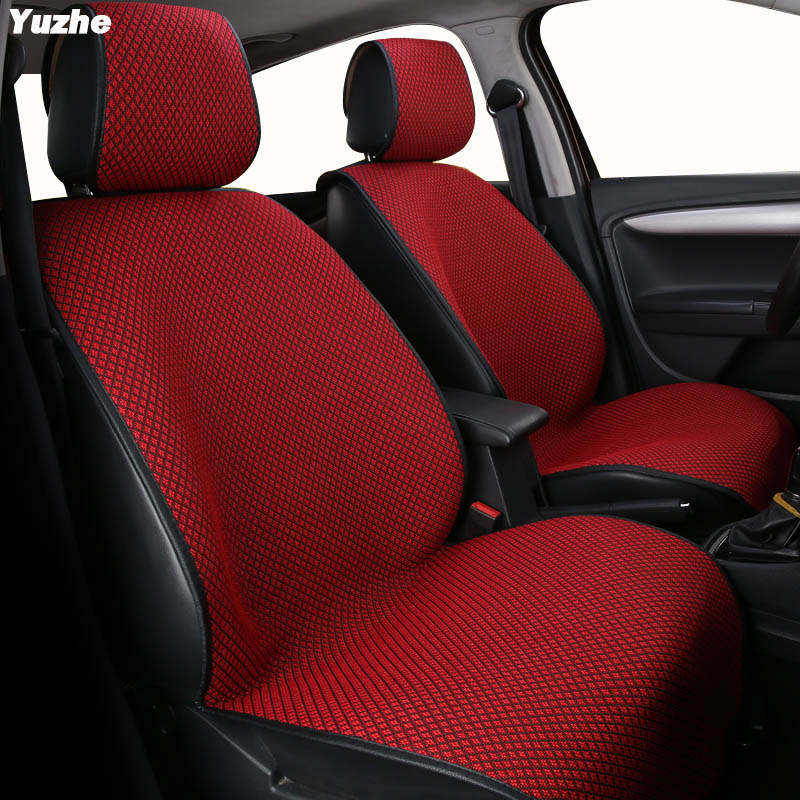 Yuzhe Auto flax set car seat covers For ford focus 2 3 s-max fiesta ranger mondeo mk3 kuga 2017 automobiles car accessories yuzhe leather car seat cover for ford mondeo focus 2 3 kuga fiesta edge explorer fiesta fusion car accessories styling cushion