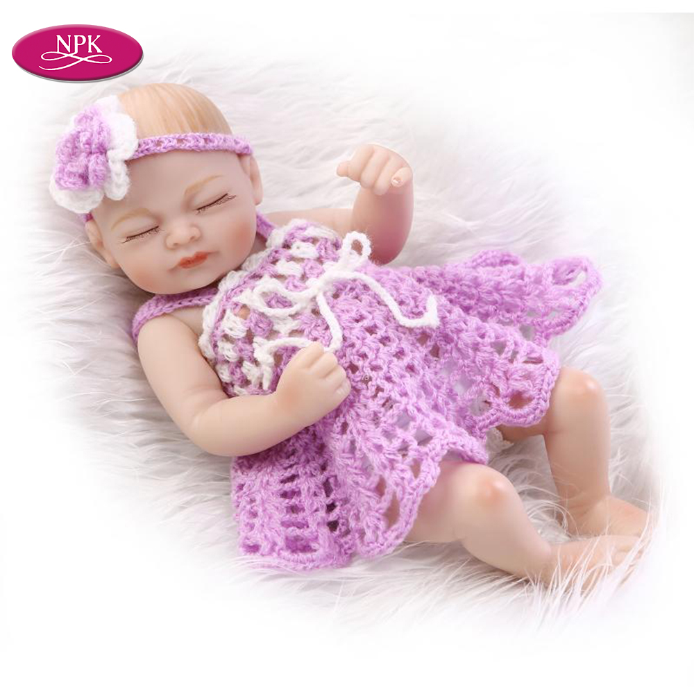 """11/"""" Baby Reborn bambole realistici in silicone morbido pieno realistico Real Life Doll Natale"""