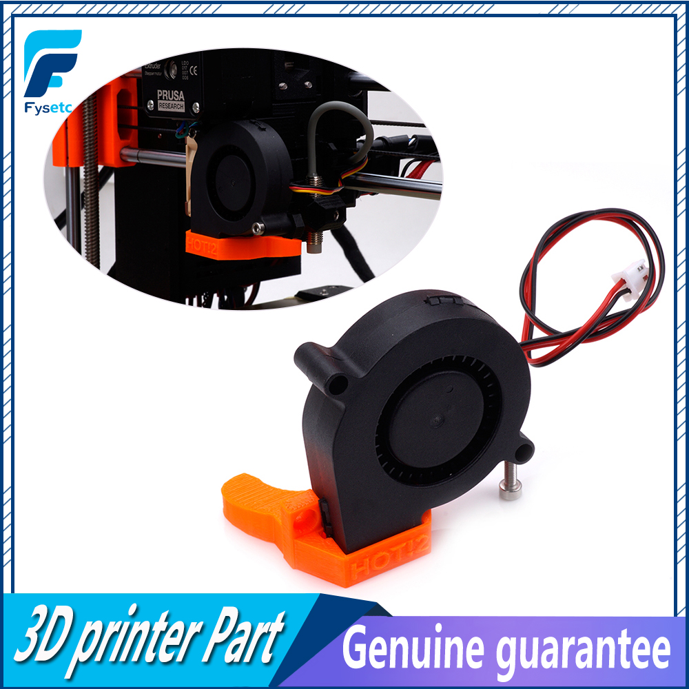 2pcs 12V / 5V DC 5015 50mm Blow Radial Cooling Fan Sleeve Bearing for Electronic Prusa I3 MK3 3D Printer Parts VS Ball Bearing original delta afb0912shf 9032 9cm 12v 0 90a dual ball bearing cooling fan page 1