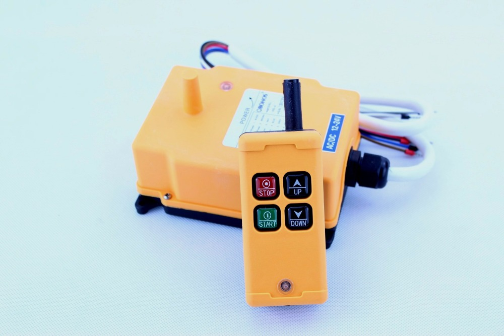 HS 4 4 Channels 1 Speed Control Hoist industrial wireless Crane Radio Remote Control System crane-in Remote Controls from Consumer Electronics    1