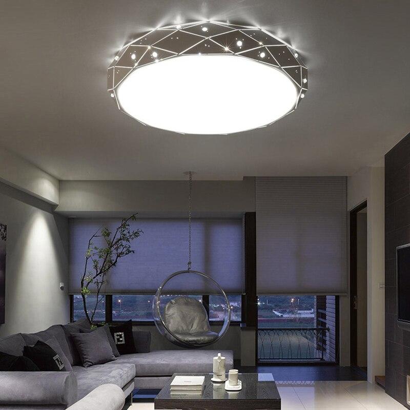 Moderne led lustre rond pour salon chambre maison AC85-265V moderne Led lustre luminaires lustre plafonnier