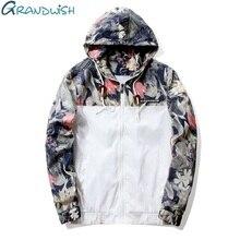 Grandwish Floral Bomber veste hommes/femmes Hip Hop Slim fleurs pilote Bomber veste manteau hommes à capuche vestes grande taille 4XL, PA571