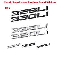 Hot Selling 330Li 335Li 328Li 320Li Chrome Number Trunk Rear Letter Emblem Decal Sticker For 3