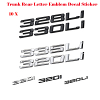 Hot selling 330Li 335i 328i 320i Chrome Number Trunk Rear Letter Emblem Decal Sticker for BMW 3 Series